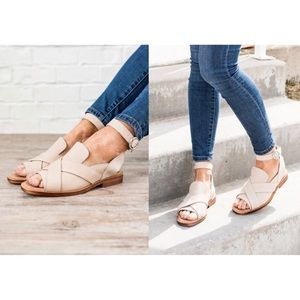 Free People | Nude Catalina Loafer Sandal Shoes
